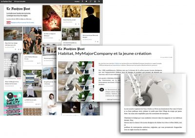 Article du Fashion Post sur les vases OBN