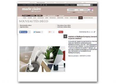 Article Marie Claire Maison sur vases IBN